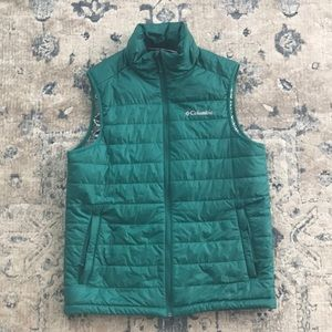 Columbia puffer vest Omni heat small green